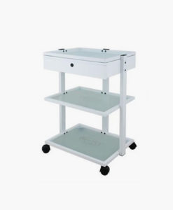 3 Tier Trolley with Lockable Drawer