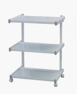 3 Tier White Beauty Trolley