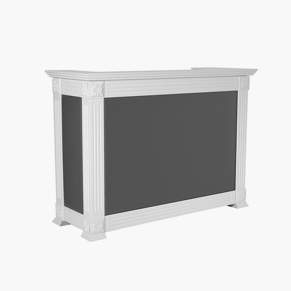 Mia angel reception desk direct salon furniture for Armoire salon