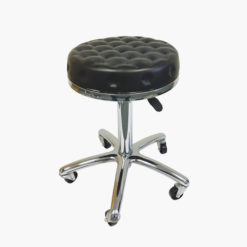 Agenda Black Dimpled Gas Lift Stylist Stool
