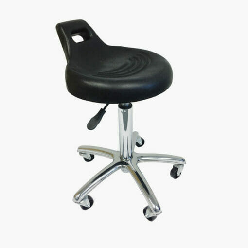 Agenda Black Moulded Gas Lift Stylist Stool