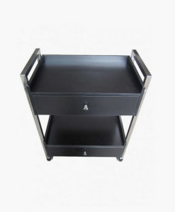 Black Wooden Beauty Trolley