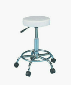 White Compact Beauty Stool