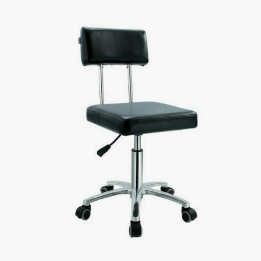 Crewe Orlando Black Therapist Stool