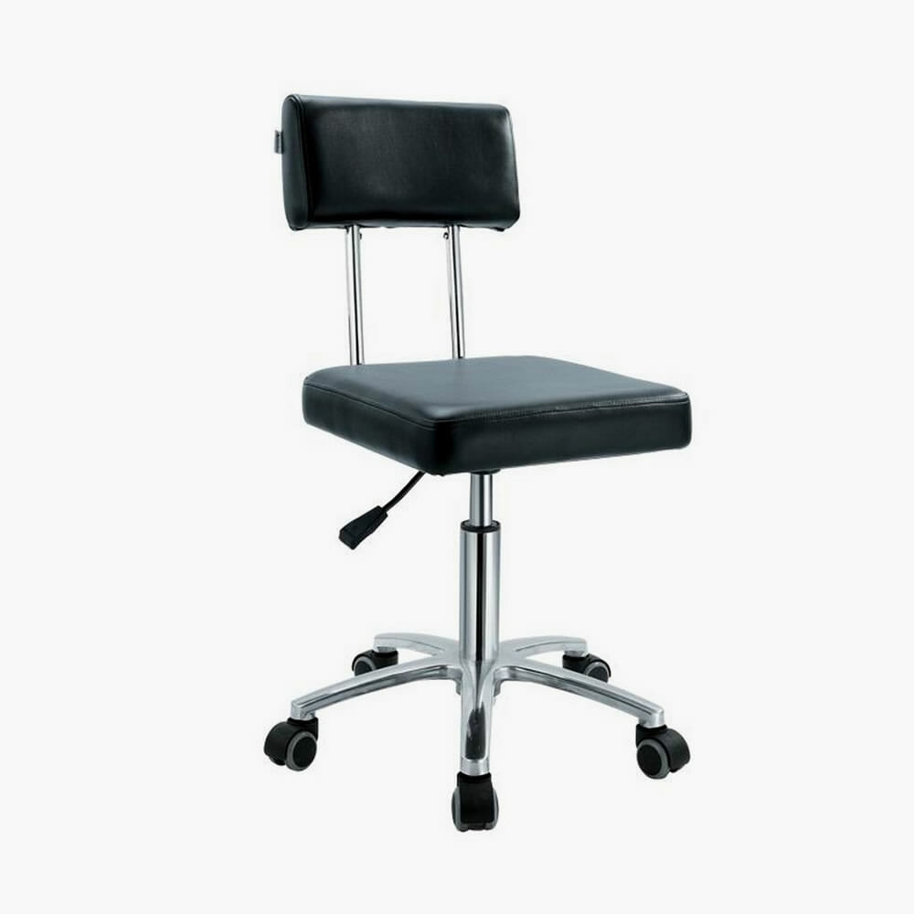 Crewe Orlando Black Therapist Stool Direct Salon Furniture