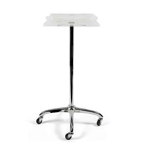 Escort Square Tinting Trolley In Transparent White