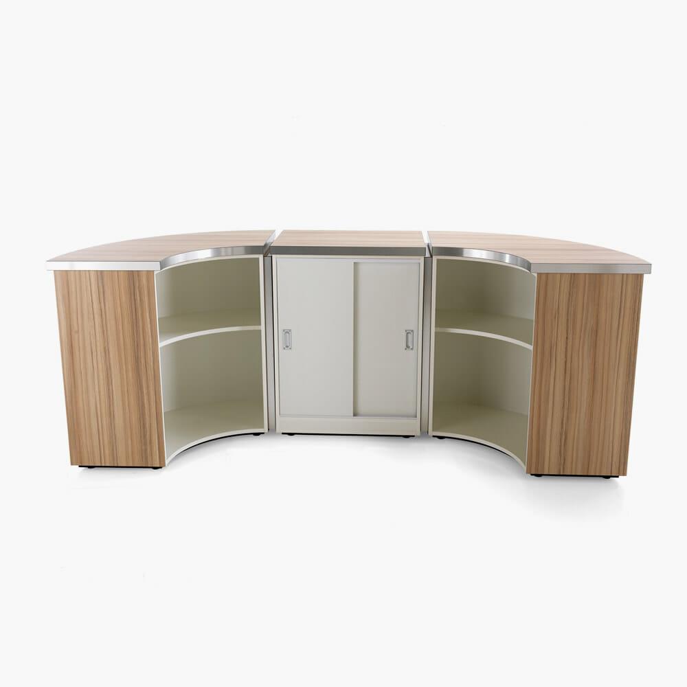 Rem helix retail reception desk complete direct salon for Salon complet but