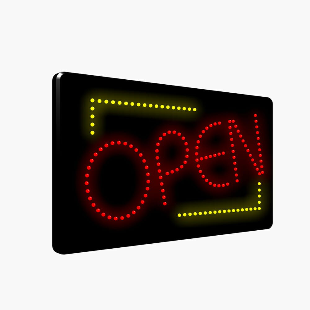 LED Yellow Red Open Sign
