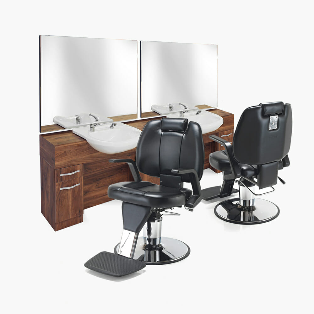 Rem maverick barbers furniture package direct salon for Modern salon furniture packages