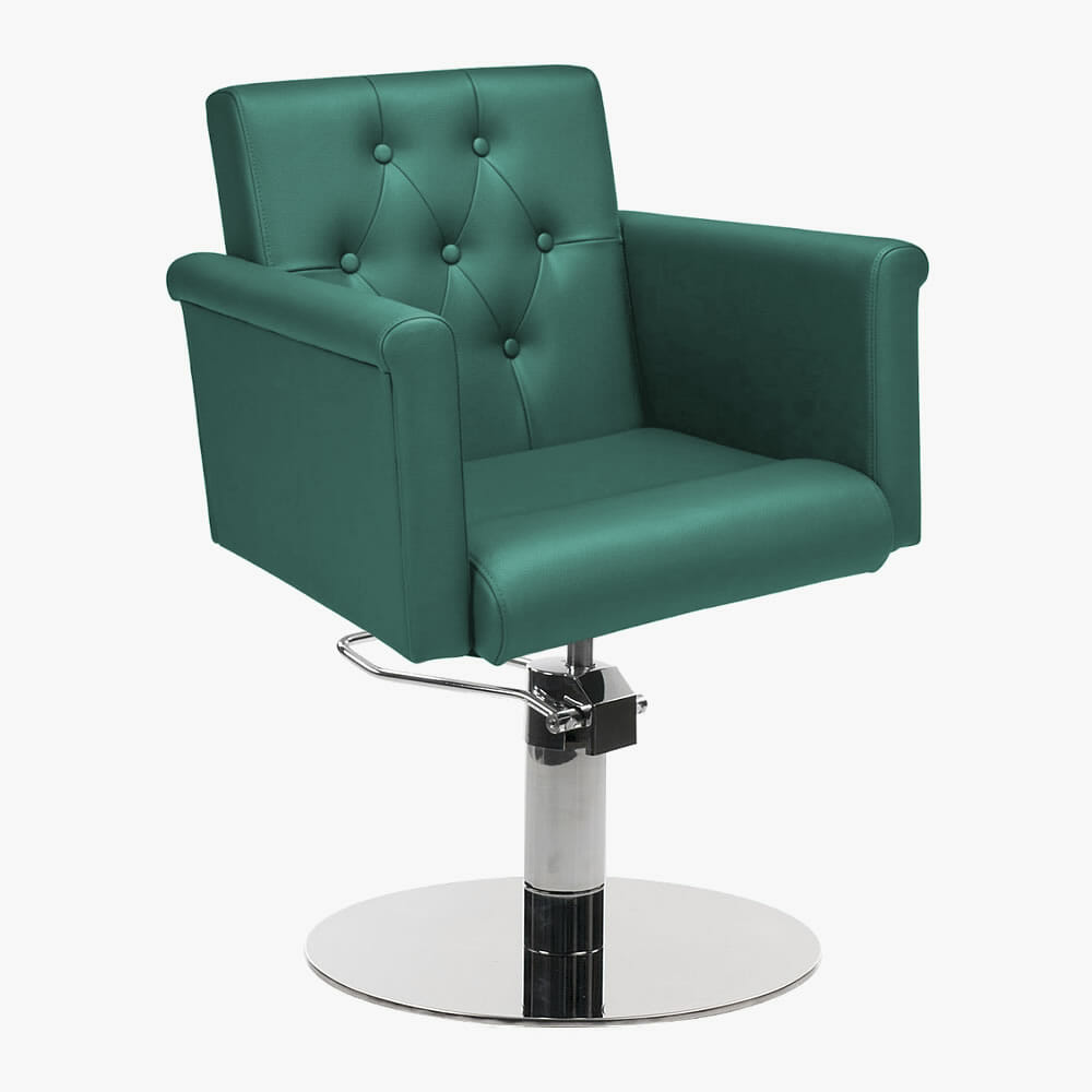 Mila senator styling chair in premium fabric direct for Salon couch