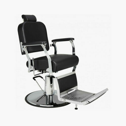 Mila Silver Standard Black Barbers Chair