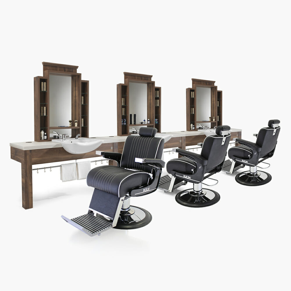 Rem montana barbers furniture package direct salon furniture for Furniture packages uk