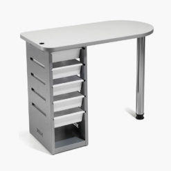Mobile Nail Stool In White Direct Salon Furniture