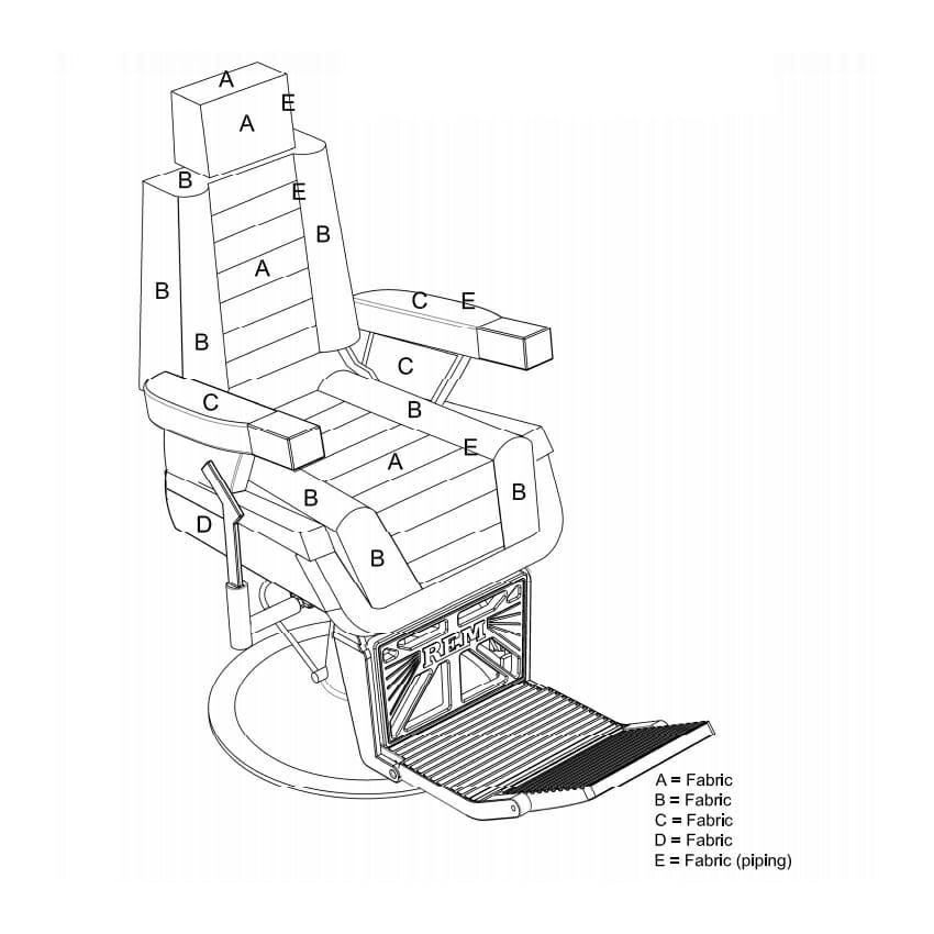 REM Emperor GT Barbers Chair
