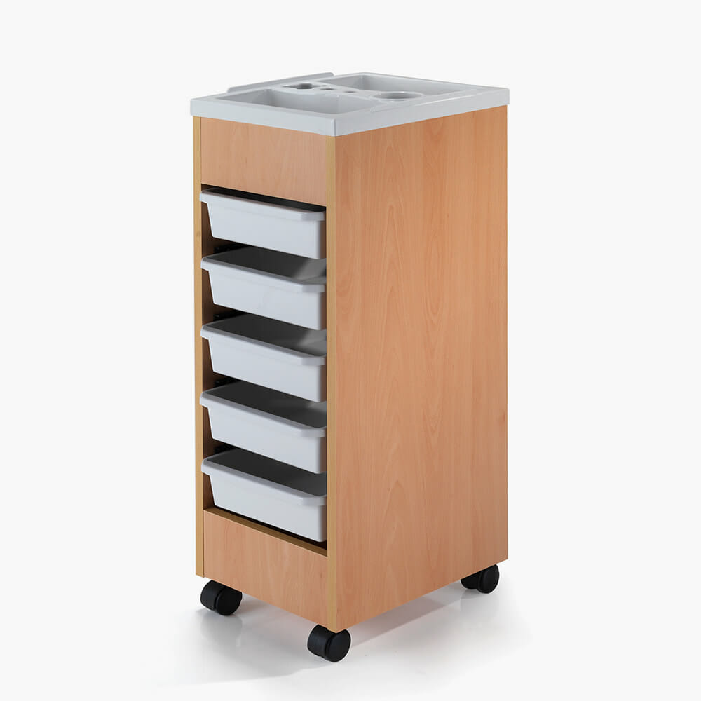 Rem stadium lightwood salon trolley direct salon furniture for Salon trolley