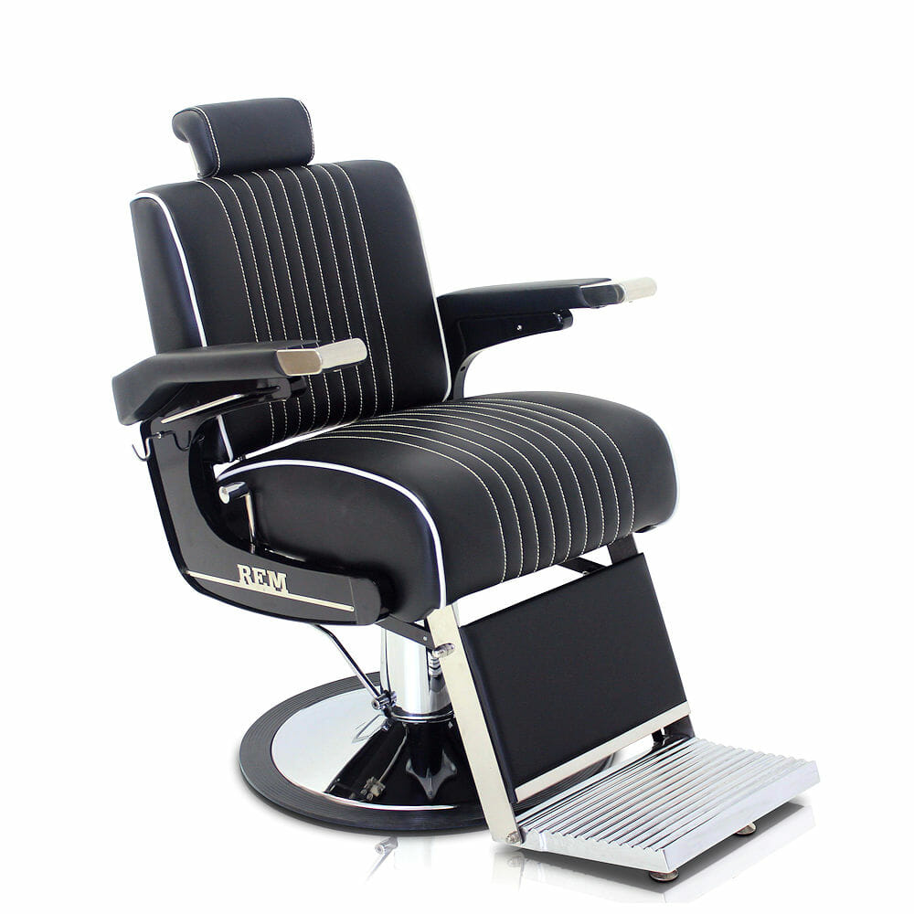 Rem Voyager Black Barbers Chair Direct Salon Furniture Uk