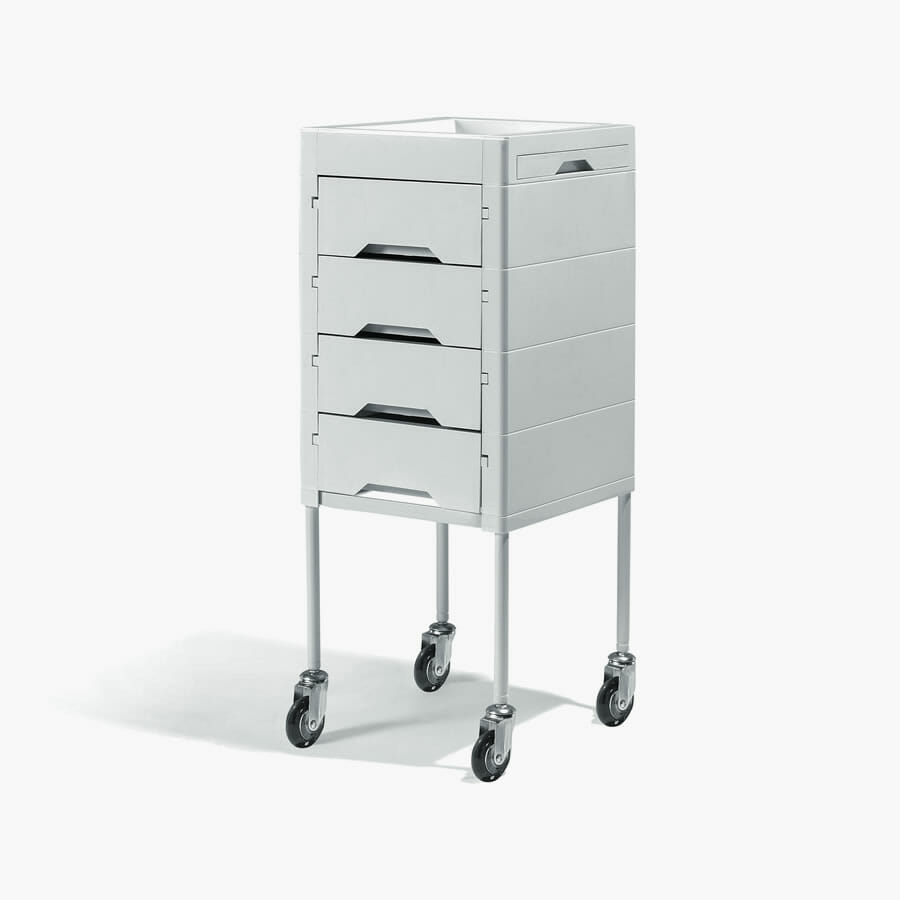 Secret white beauty trolley direct salon furniture for Salon trolley