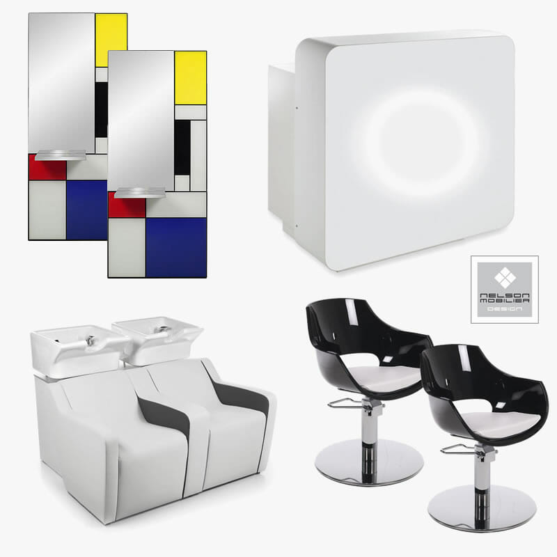 Nelson mobilier style furniture package direct salon for Modern salon furniture packages
