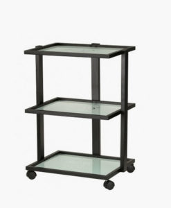 3 Tier Glass Shelved Beauty Trolley
