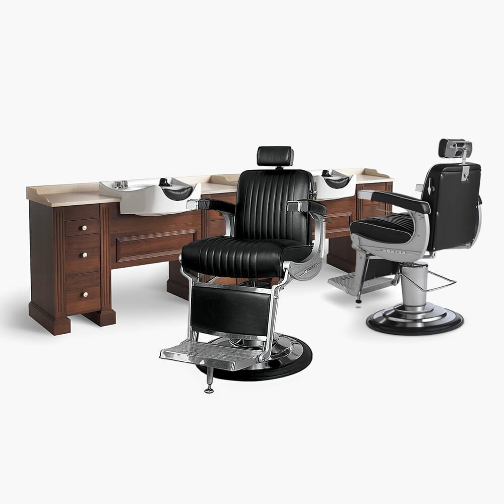 Takara belmont apollo barbers furniture package direct for Modern salon furniture packages