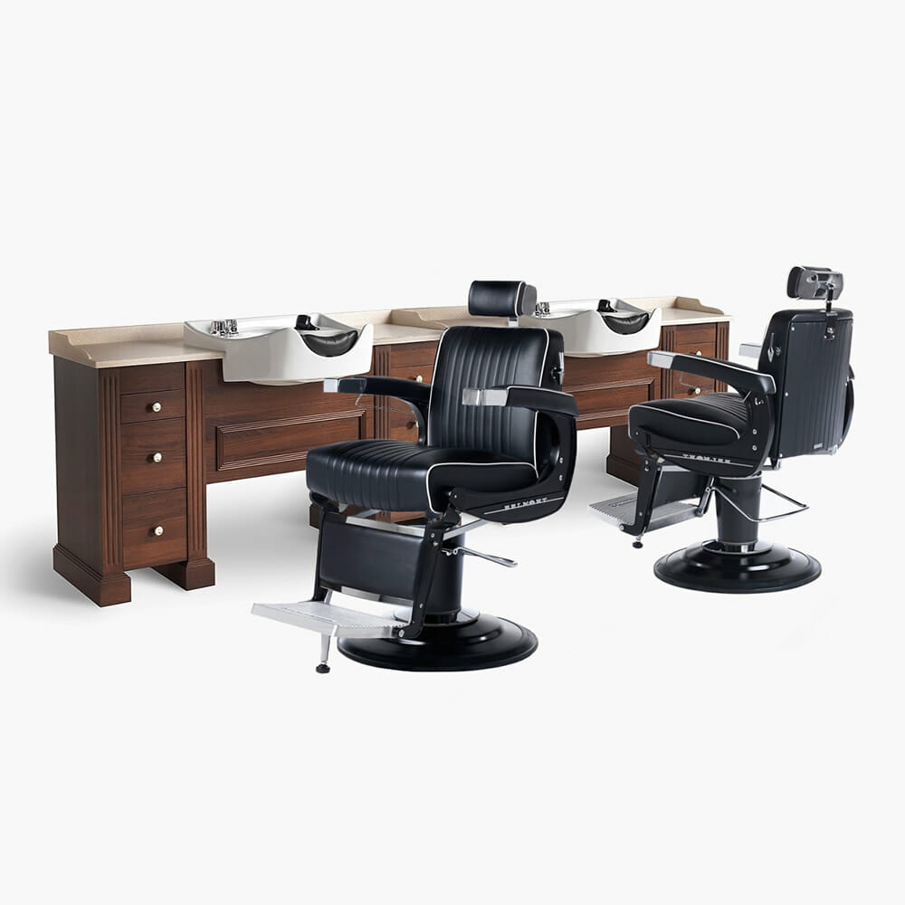 Takara belmont apollo elite barbers furniture package dsf for Furniture packages uk