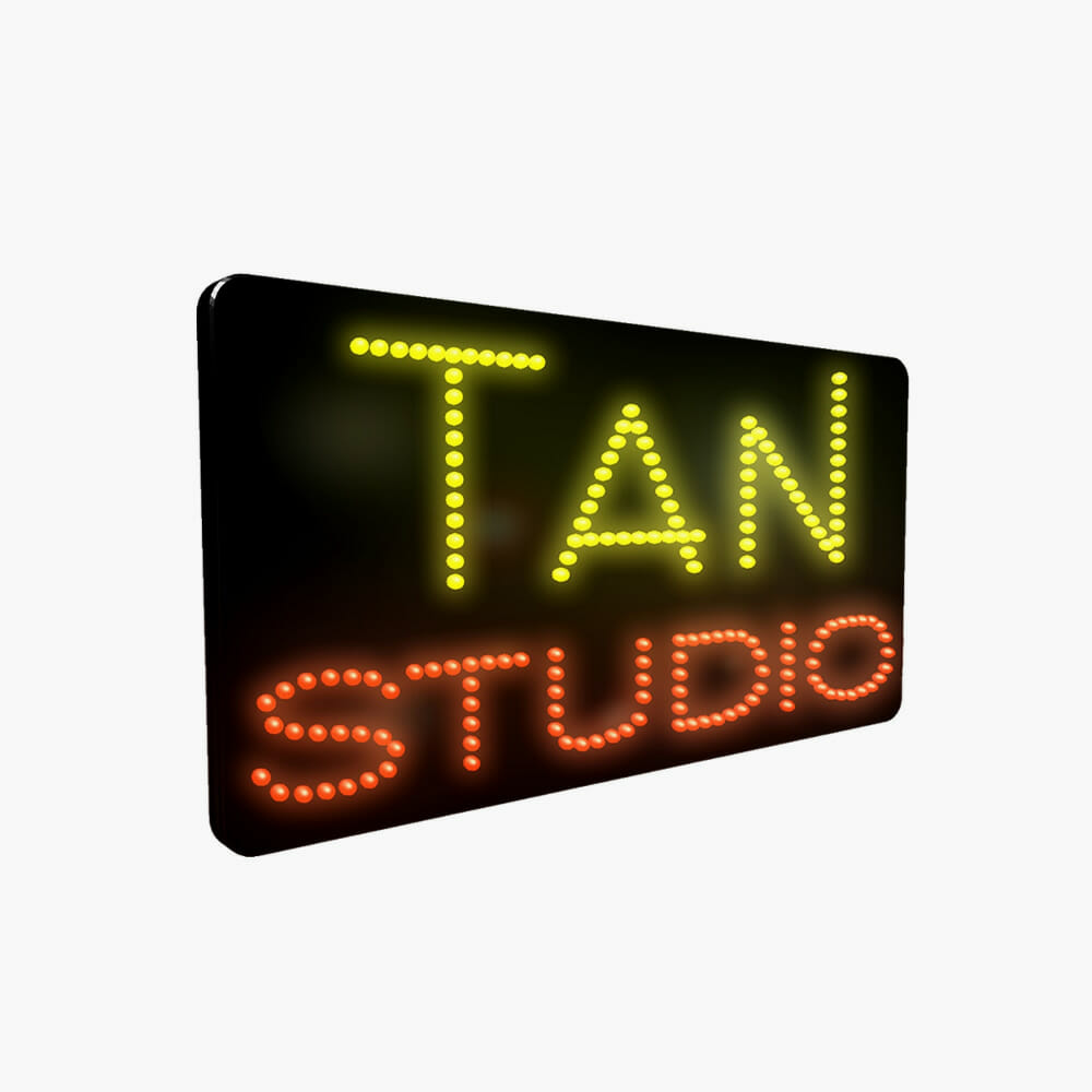 LED Tan Studio Sign