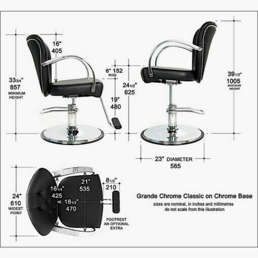 WBX Grande Classic Hydraulic Styling Chair