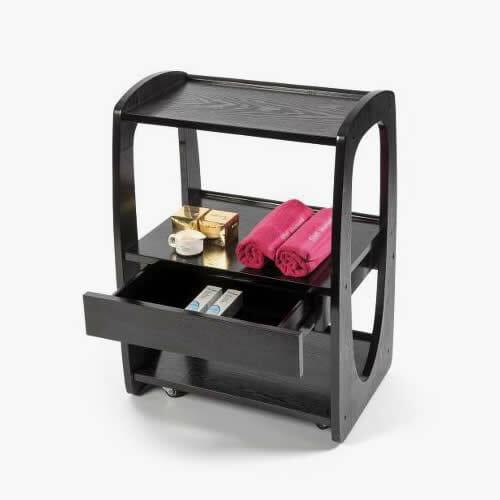 Zen 2 dark wood beauty trolley direct salon furniture for A zen salon colorado springs