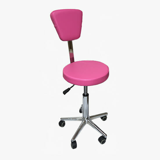 Crewe Orlando Pink Cutting Stool With Backrest Direct