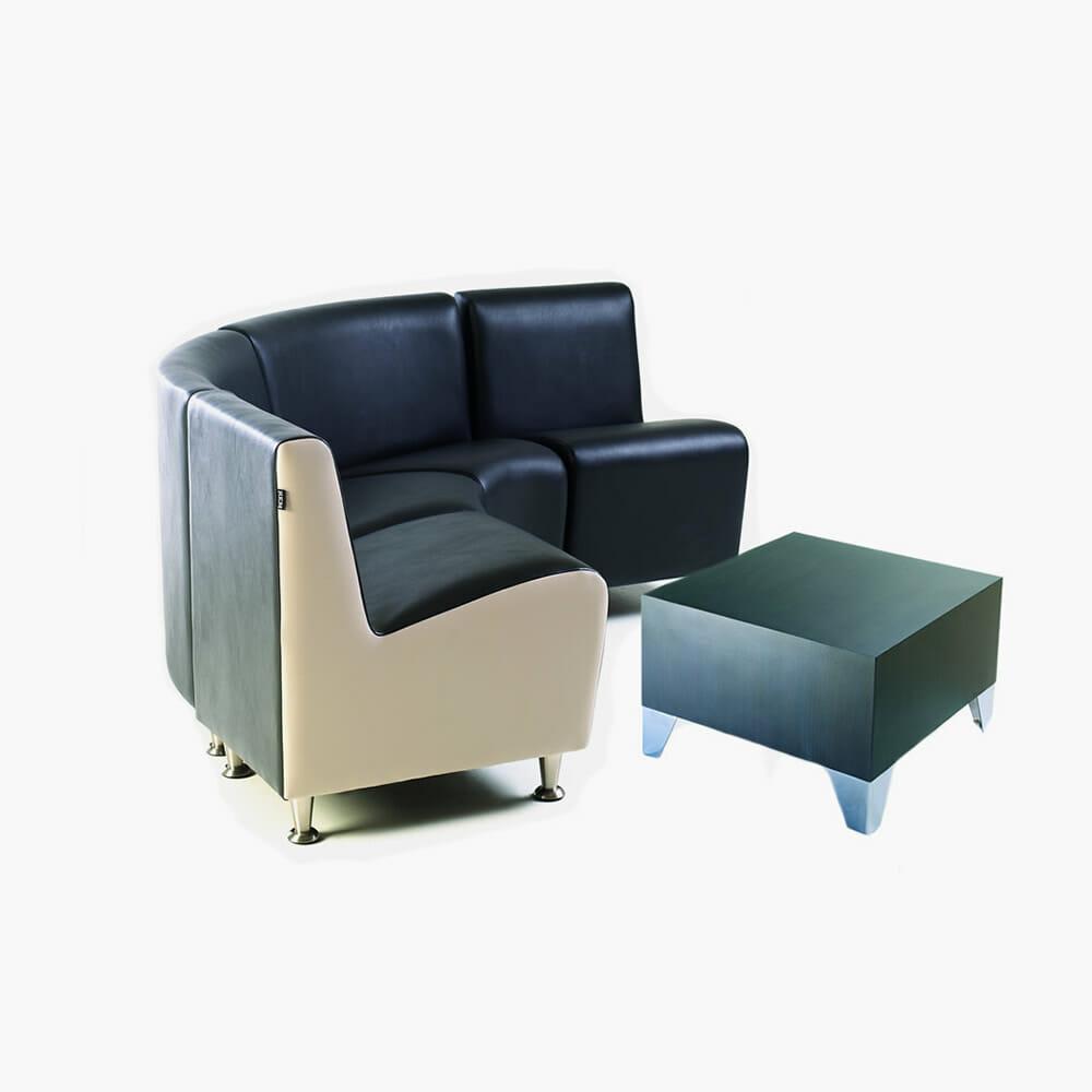 rem elegance corner waiting seat direct salon furniture. Black Bedroom Furniture Sets. Home Design Ideas