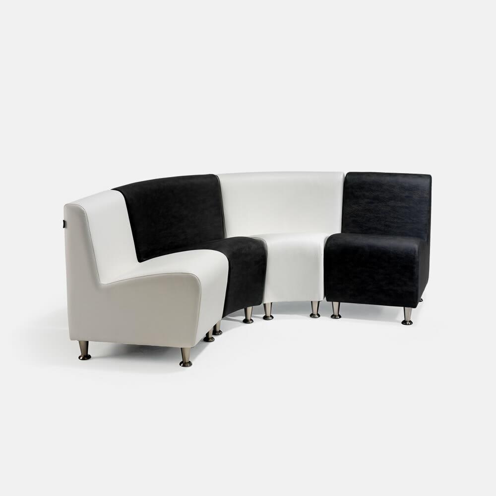 Rem elegance waiting seat set direct salon furniture for Salon couch