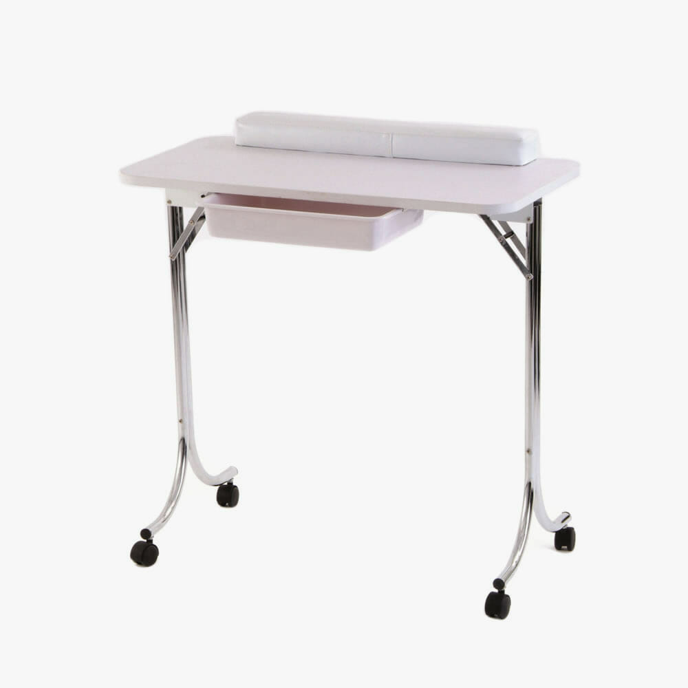 Folding nail table direct salon furniture for Beauty salon furniture manicure table