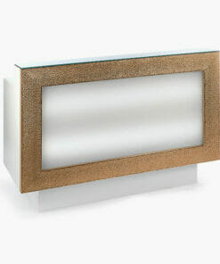 Nelson Mobilier Gold/Silver Reception Desk