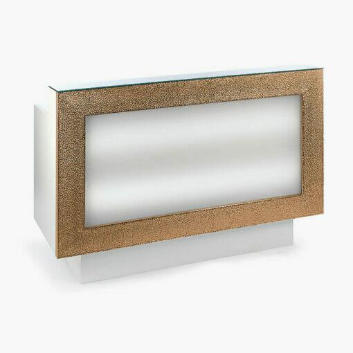 Nelson Mobilier Gold/Silver Reception Desk