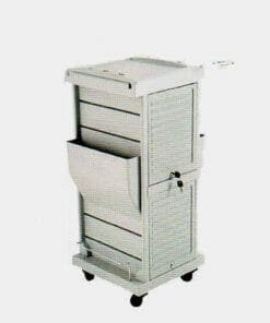mila pilot grey locking salon trolley