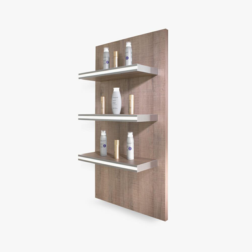 salon wall shelves : Salon+Product+Wall+Mounted+Shelving REM Glam LED Retail Shelving Unit ...