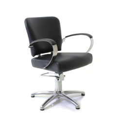 REM Roma Hydraulic Styling Chair in Black