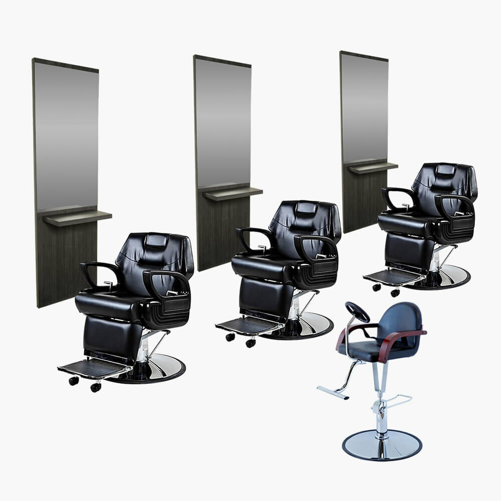 Crewe orlando barbers package b direct salon furniture for Beauty salon furniture packages