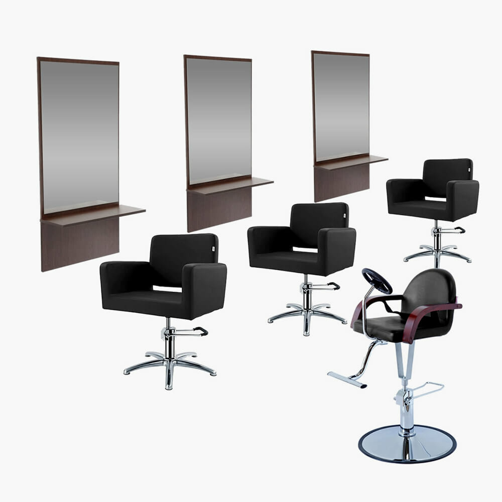 Crewe orlando barbers package a direct salon furniture for Hairdressing furniture packages