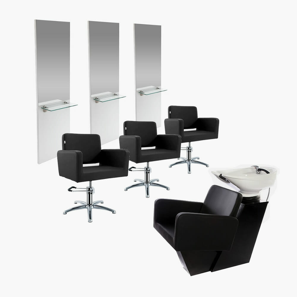 Crewe orlando barbados salon package direct salon furniture for Beauty salon furniture packages