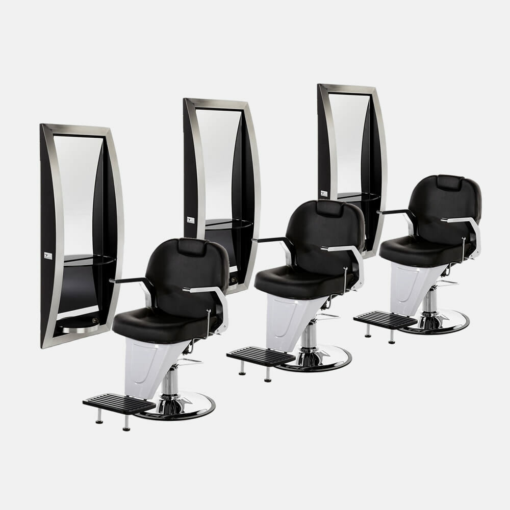 Insignia barbers package b direct salon furniture for Hairdressing furniture packages