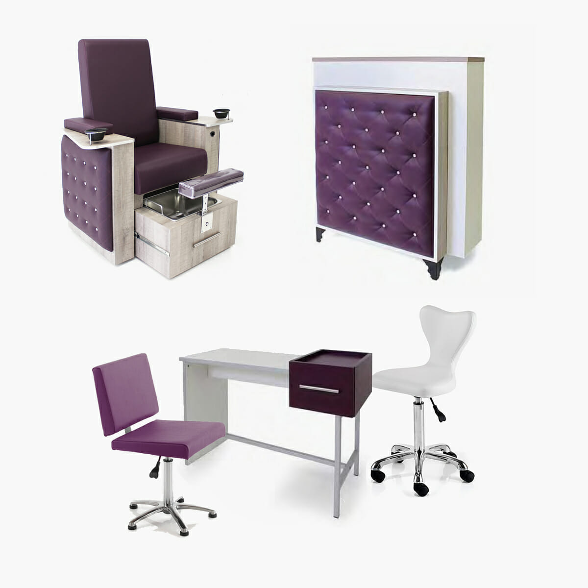 Rem bliss beauty furniture package direct salon furniture for Modern salon furniture packages