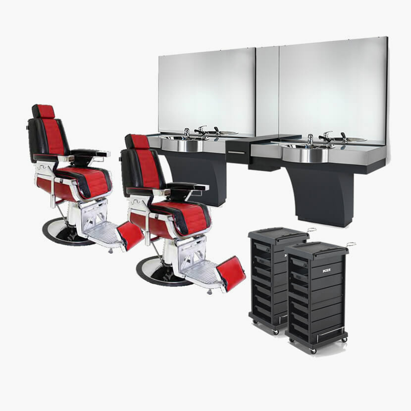Rem emperor gt furniture package direct salon furniture for Modern salon furniture packages