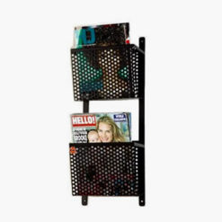 Riley Basket Rakk Wall Mounted Magazine Rack