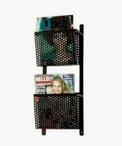 Riley Basket Rakk Wall Mounted Magazine Rack
