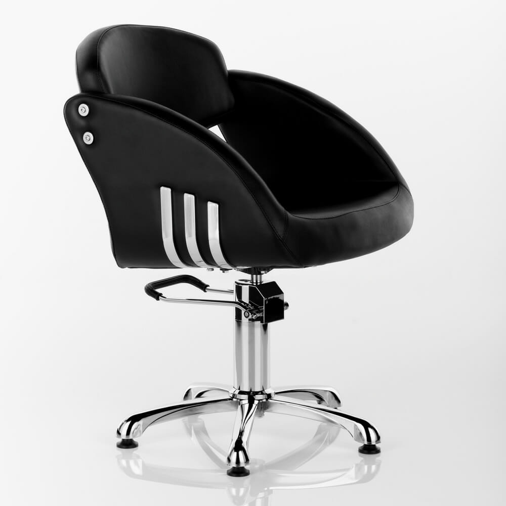 Arcadia hydraulic styling chair in black direct salon for Hydraulic chairs beauty salon