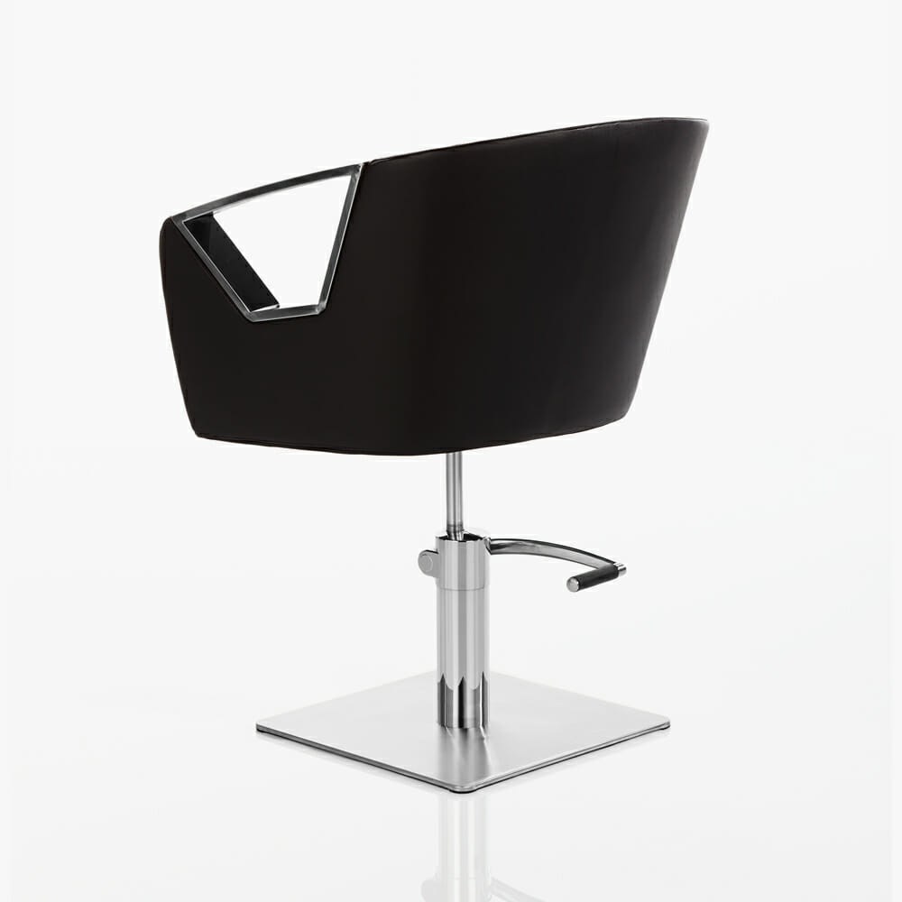 crystal hydraulic styling chair in black direct salon