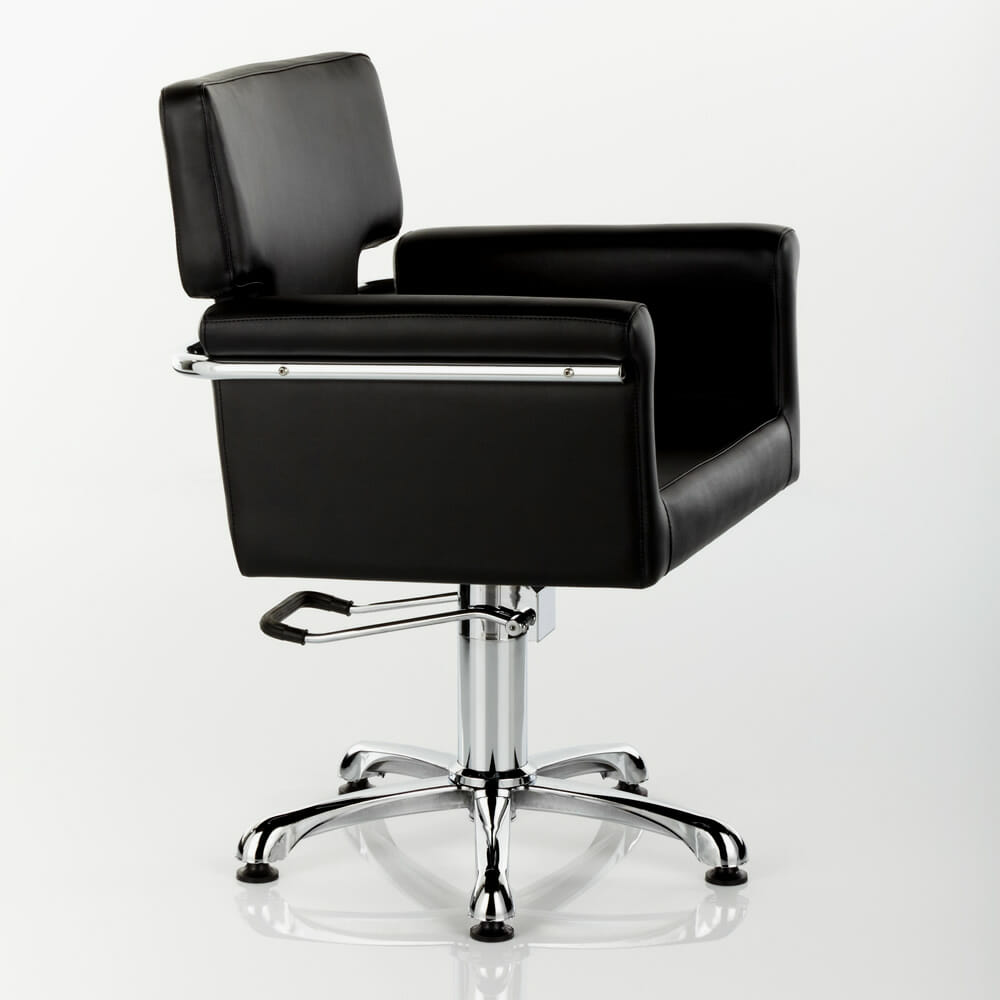 laser hydraulic styling chair in black direct salon