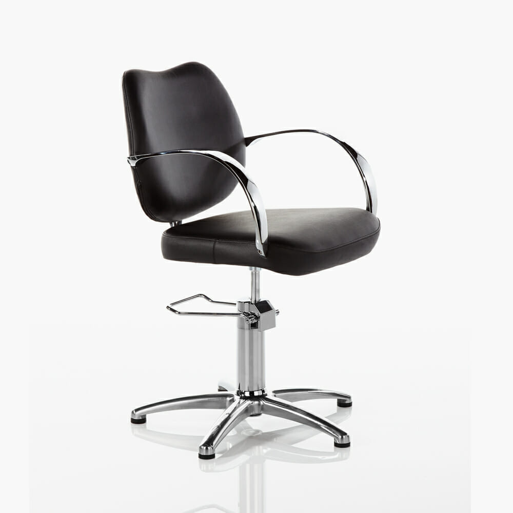 luxor hydraulic styling chair in black direct salon