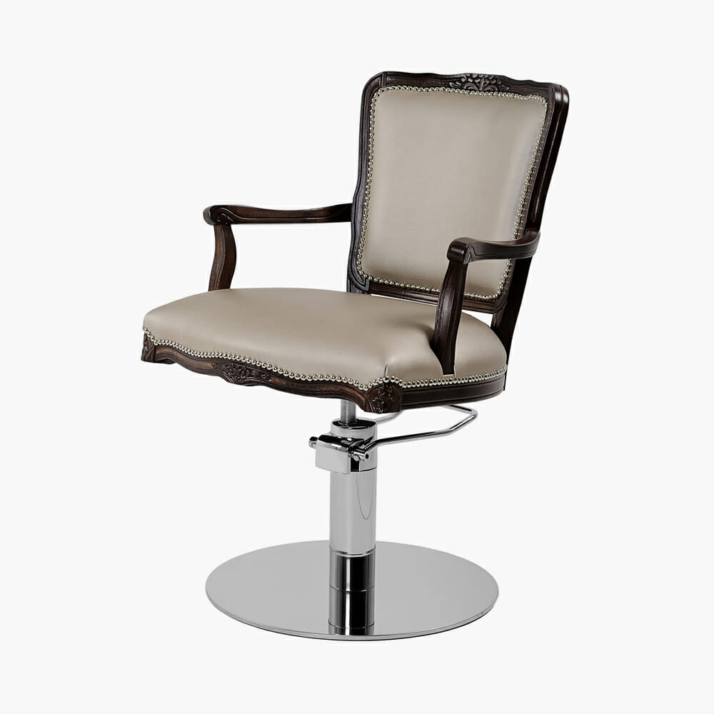 Mia Prince Styling Chair In Premium Fabric Direct Salon Furniture